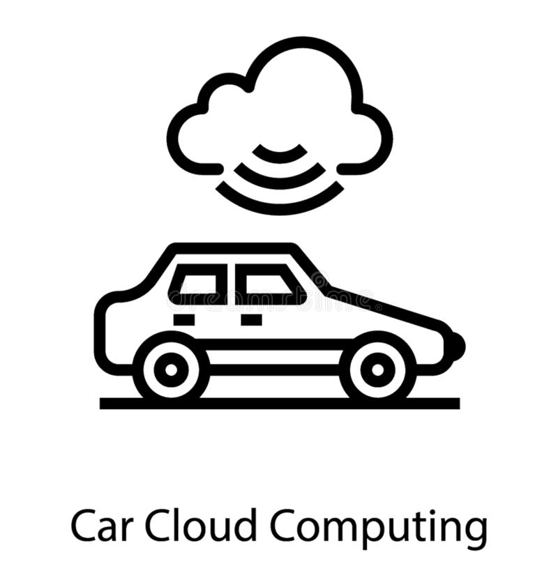 Slimme Autonome Auto vector illustratie
