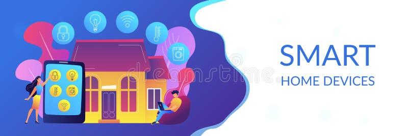Slimme de bannerkopbal van het huisconcept stock illustratie
