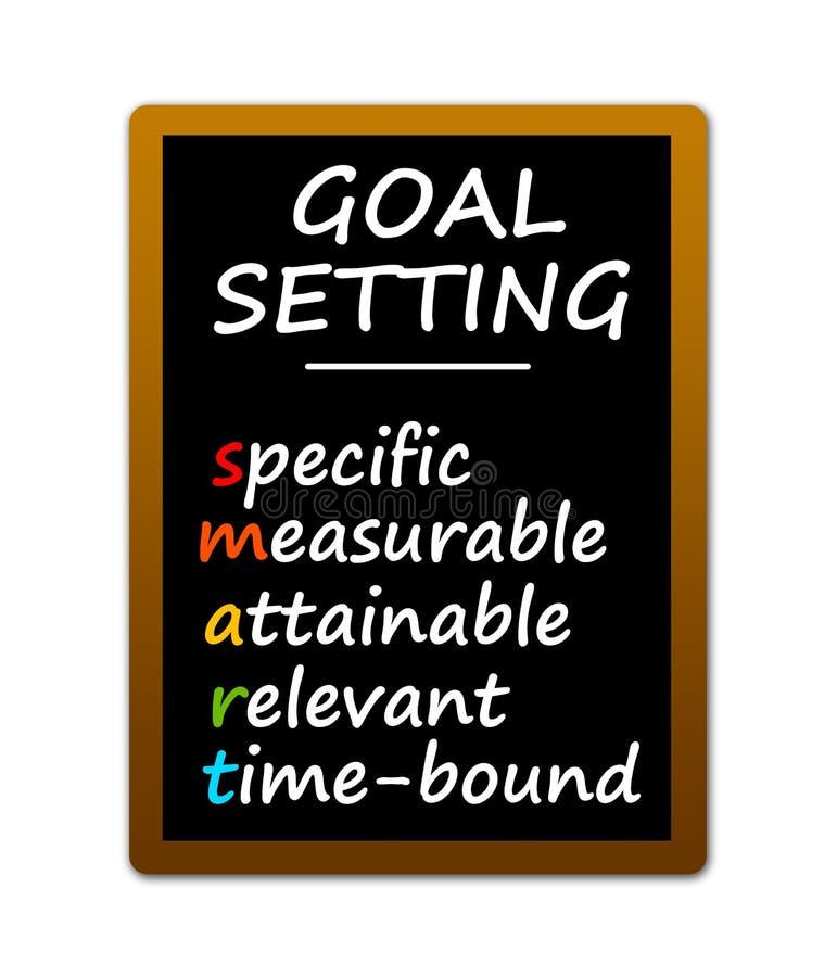 Slimme doelstellingen stock illustratie