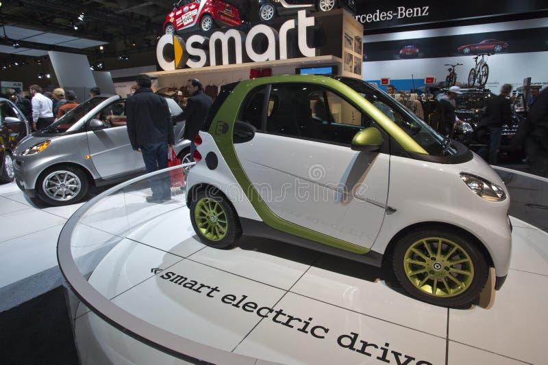 Slimme elektrische aandrijvingsauto bij 2010 CIAA royalty-vrije stock afbeeldingen