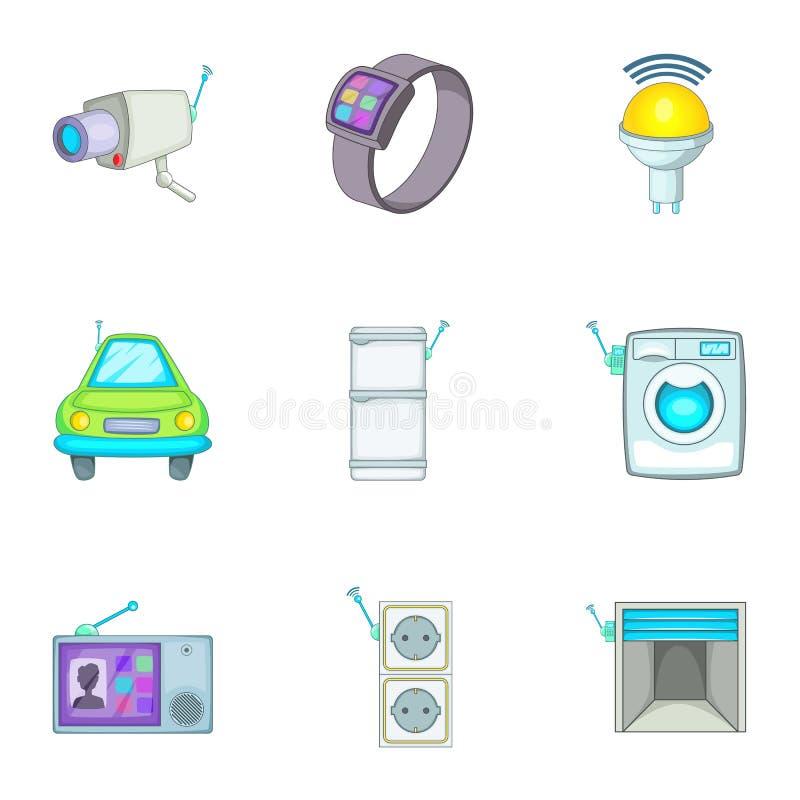 Slimme geplaatste huis het best automatische elektronische apparaten vector illustratie