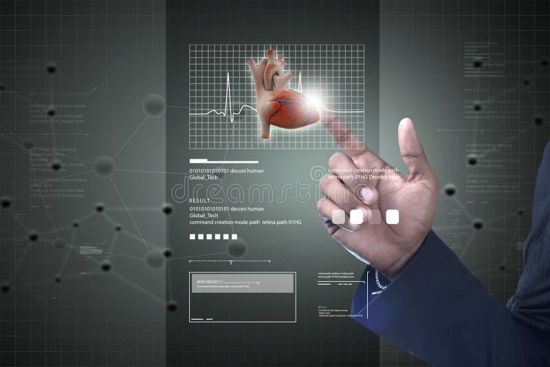 Slimme hand die menselijk hart tonen vector illustratie