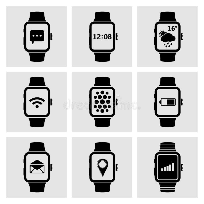 slimme horlogepictogrammen royalty-vrije illustratie
