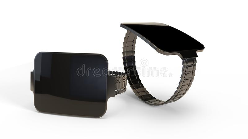 Slimme horlogetechnologie van achtergrond, het 3d teruggeven vector illustratie