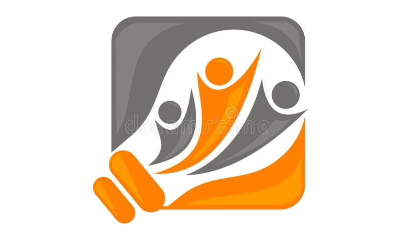 Slimme Ideeën Logo Design Template vector illustratie