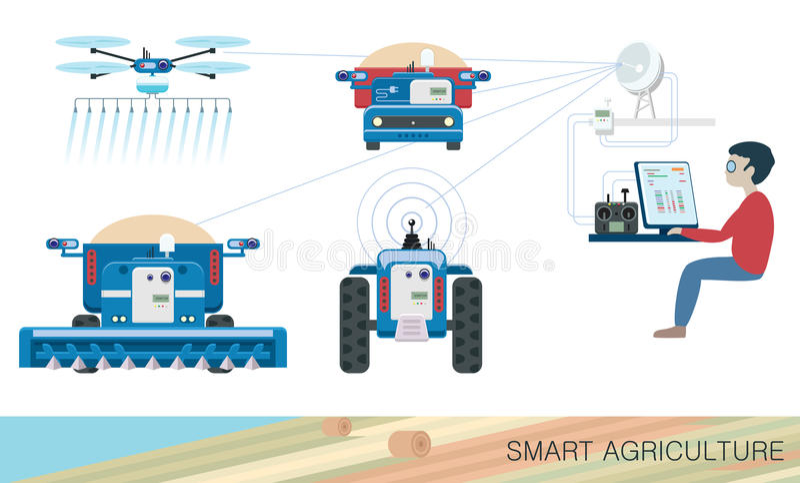 Slimme landbouw vector illustratie