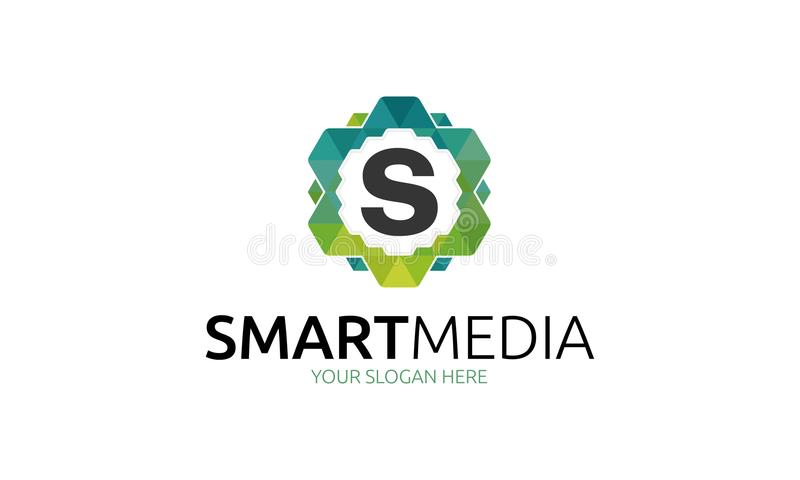 Slimme Media Logo Template vector illustratie
