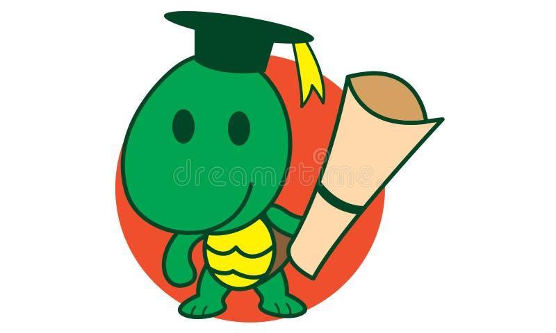 Slimme Schildpad stock illustratie