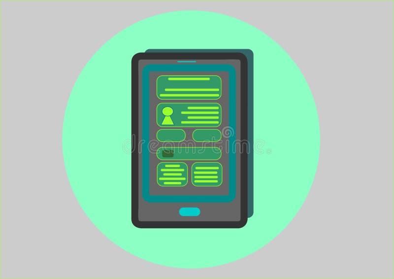 Slimme tabletpc stock illustratie