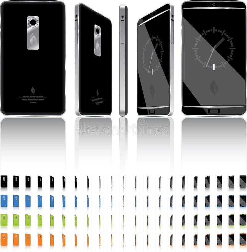 Slimme Telefoon 3D Omwenteling - 21 Kaders royalty-vrije illustratie