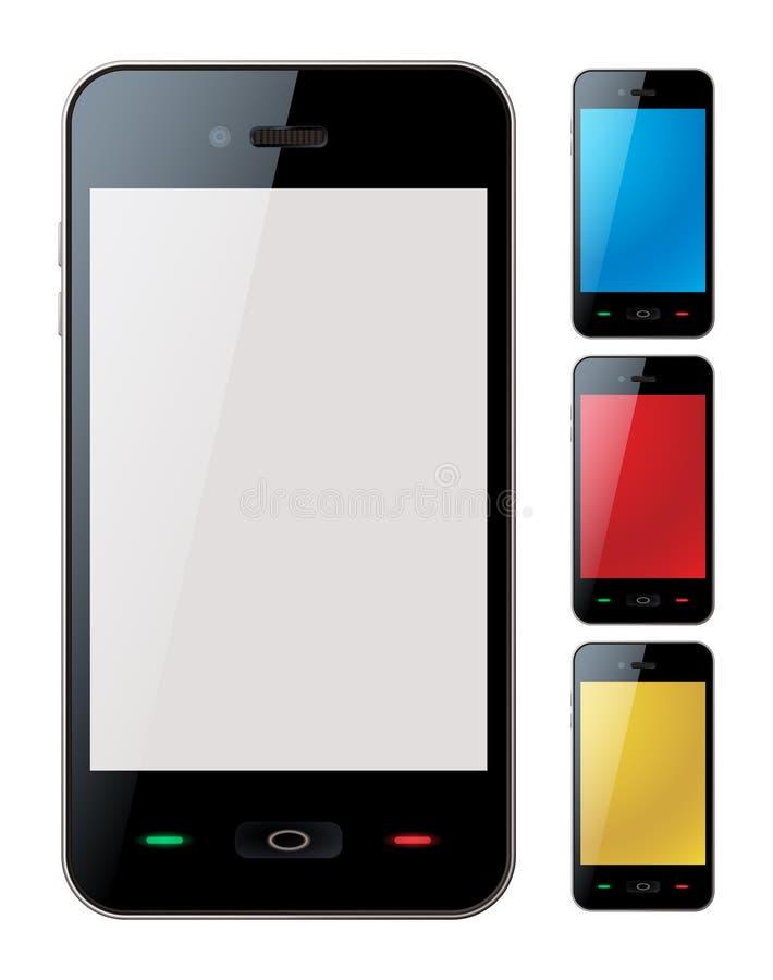 Slimme telefoon die met copyspace wordt geplaatst - geïsoleerdee vector vector illustratie