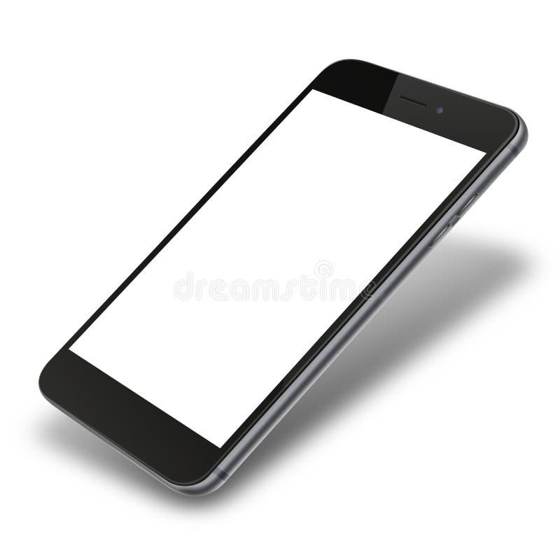 Slimme telefoon die op witte achtergrond wordt geïsoleerdr stock illustratie
