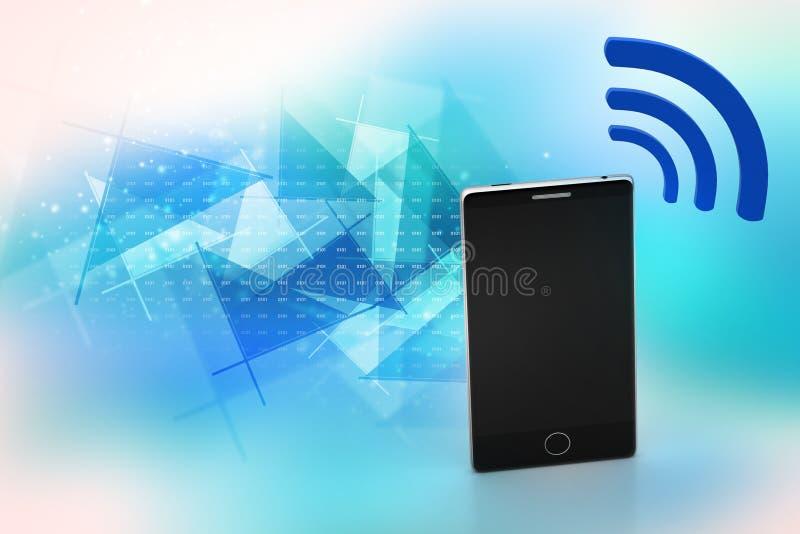 Slimme telefoon met Internet-pictogram vector illustratie