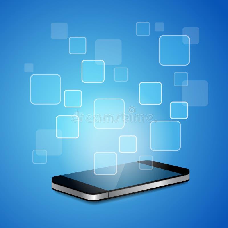 Slimme telefoon met lege APP stock illustratie