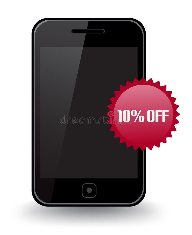 Slimme Telefoonkorting royalty-vrije illustratie