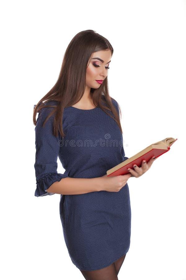 Slimme vrouw met boeken royalty-vrije stock foto's