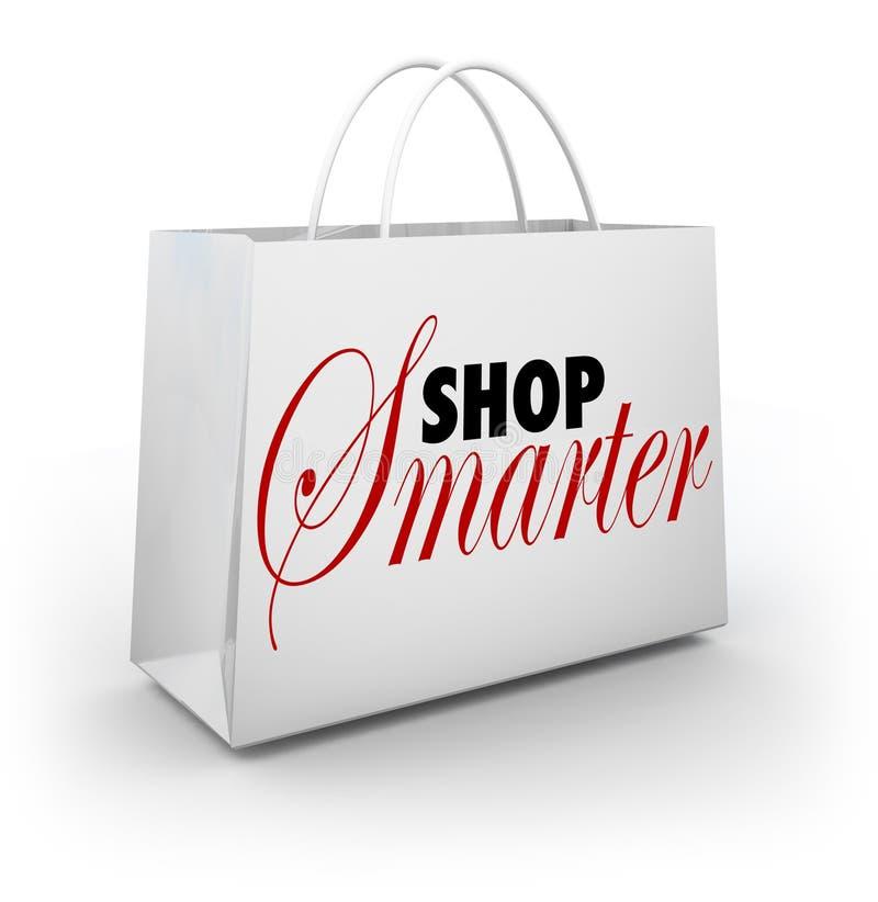 Slimmere de winkel vindt de Zak van de Verkoopprijzen van Overeenkomstenkortingen stock illustratie