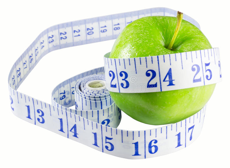 Slimming Apple Royalty Free Stock Photos