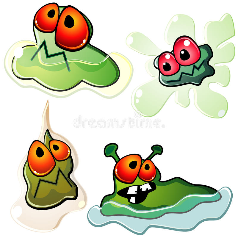 Download Slimy germs stock vector. Illustration of microorganism - 22182262