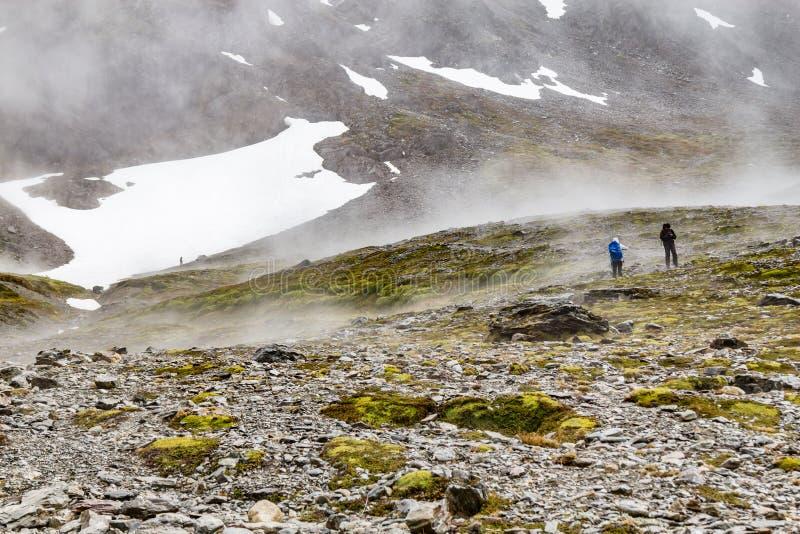 Slinga i den krigs- glaciären royaltyfri fotografi