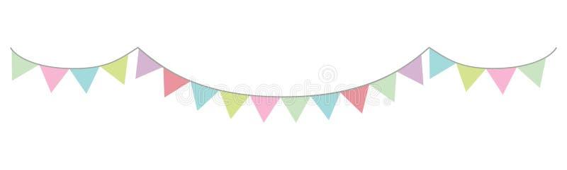 Slinger in pastelkleurenvector driehoekige kleurrijk stock illustratie