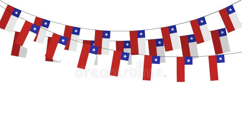 Slinger, wimpels op een kabel voor partij, Carnaval, festival, viering vector illustratie