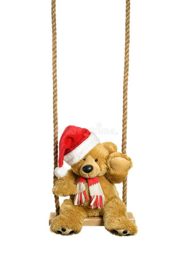 Slingerend Teddy Bear royalty-vrije stock afbeeldingen