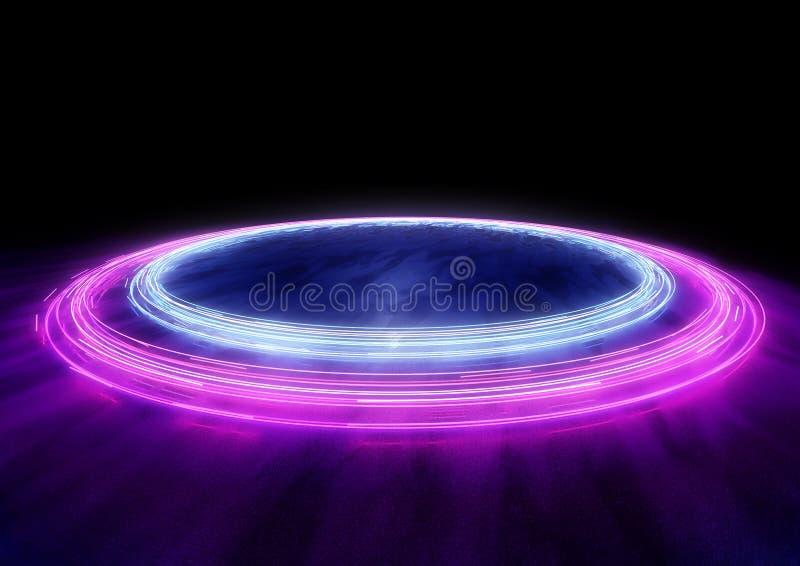 Slingor för neonbilljus vektor illustrationer