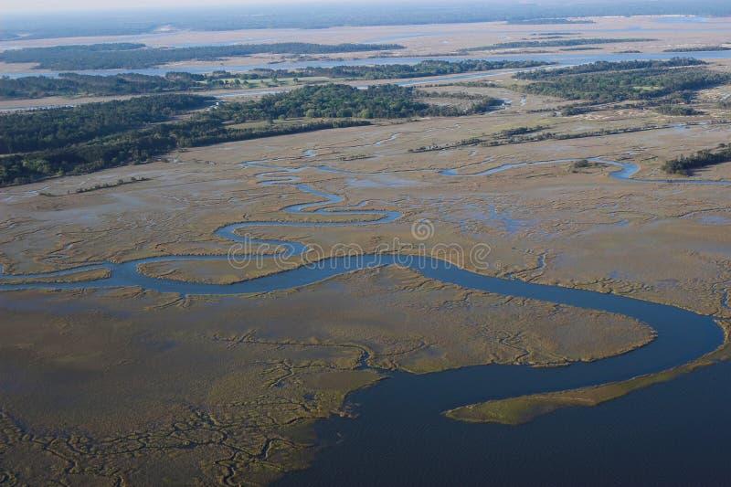 slingra flod för delta royaltyfri foto