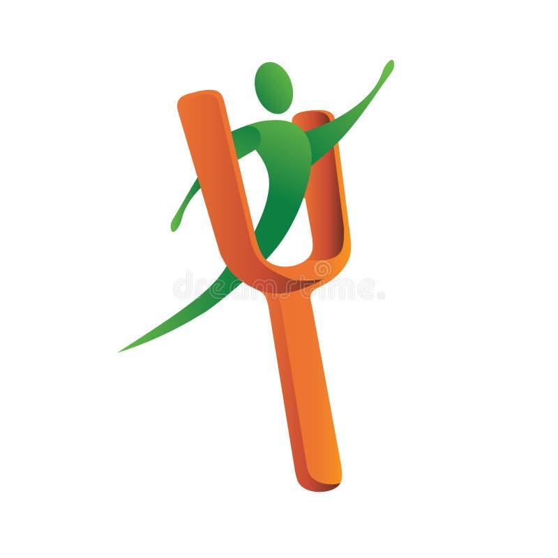 slingshot человека логоса иллюстрация вектора
