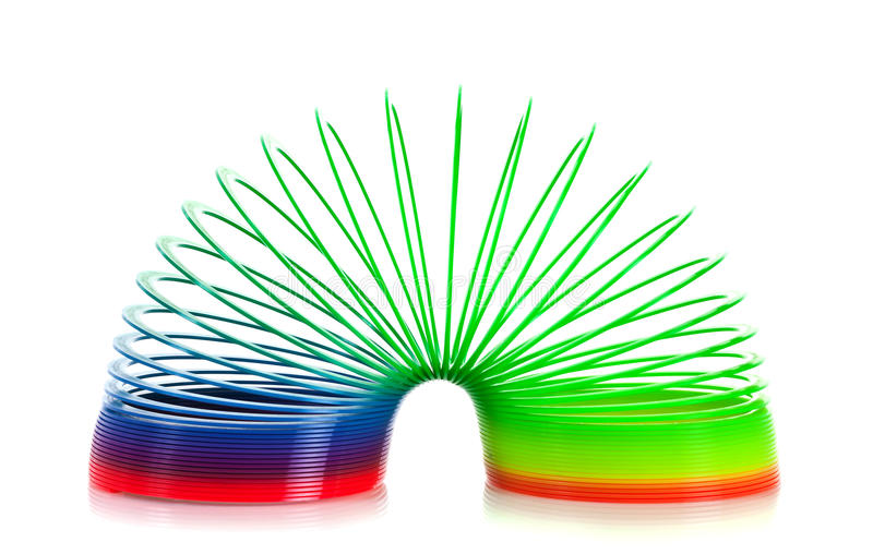 Slinky. Isolated on white background
