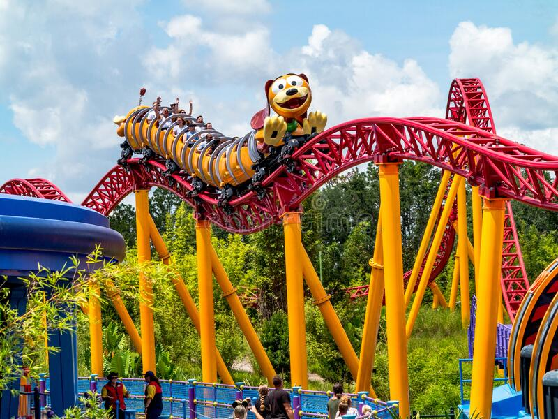 Slinky Dog Dash in Toy Story Land, Disney World royalty free stock photos