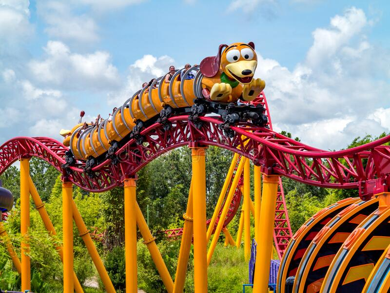 Slinky Dog Dash in Toy Story Land, Disney World stock photo