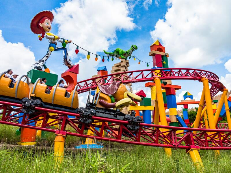 Slinky Dog Dash in Toy Story Land, Disney World stock photography