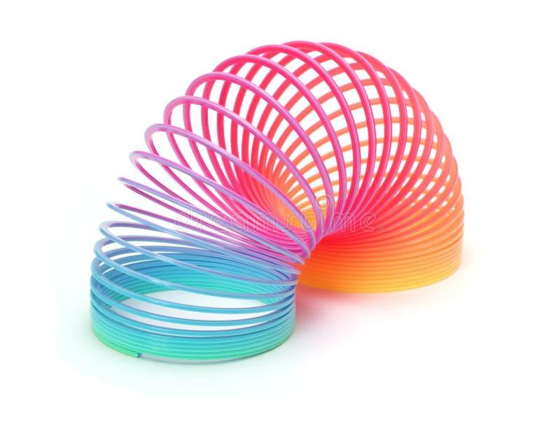 Slinky Spring. Spring toy on white background