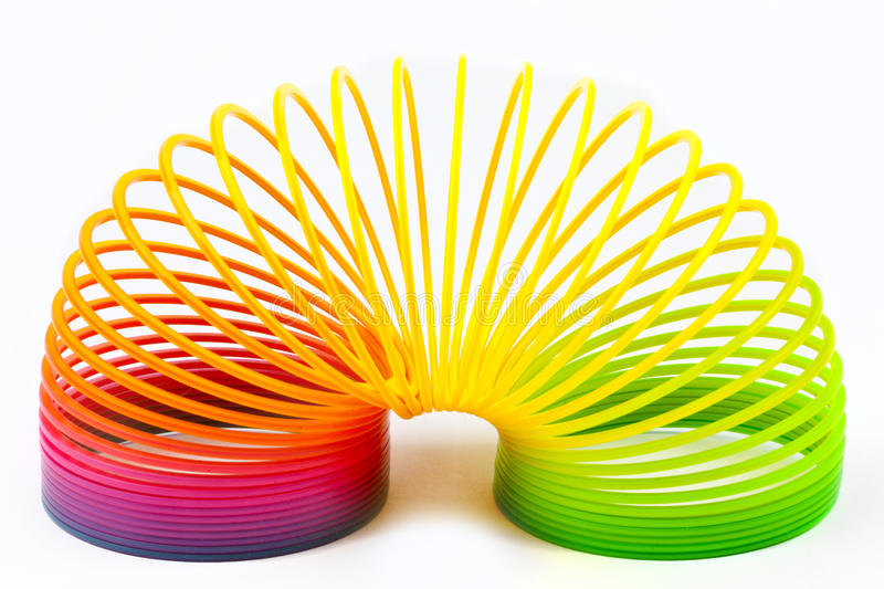Download Slinky Toy stock photo. Image of retro, coloured, play - 28867168