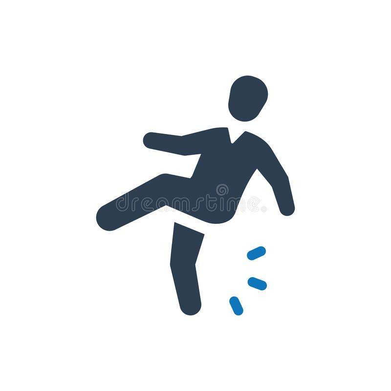 Slip Fall Icon stock illustration