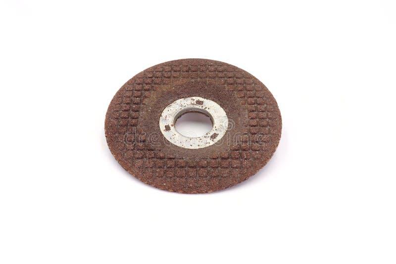 Slipande disketter för molarmaskinhjulet som isoleras på vit bakgrund royaltyfria foton