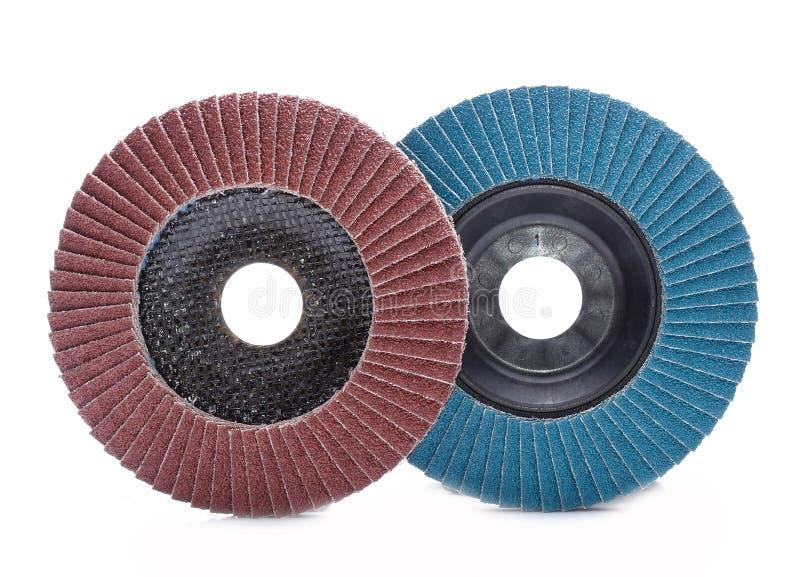 Slipande hjul som isoleras på vit bakgrund arkivfoton