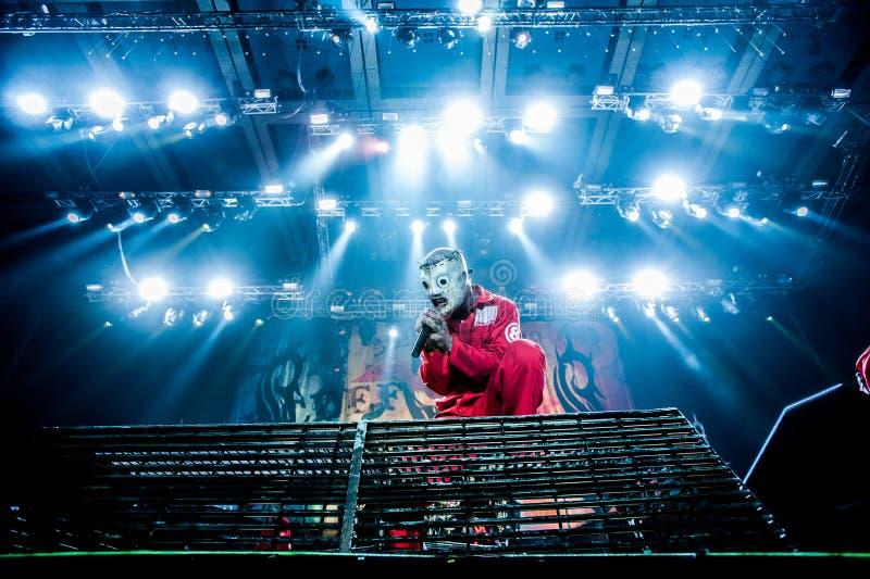 Slipknot音乐会 免版税库存图片