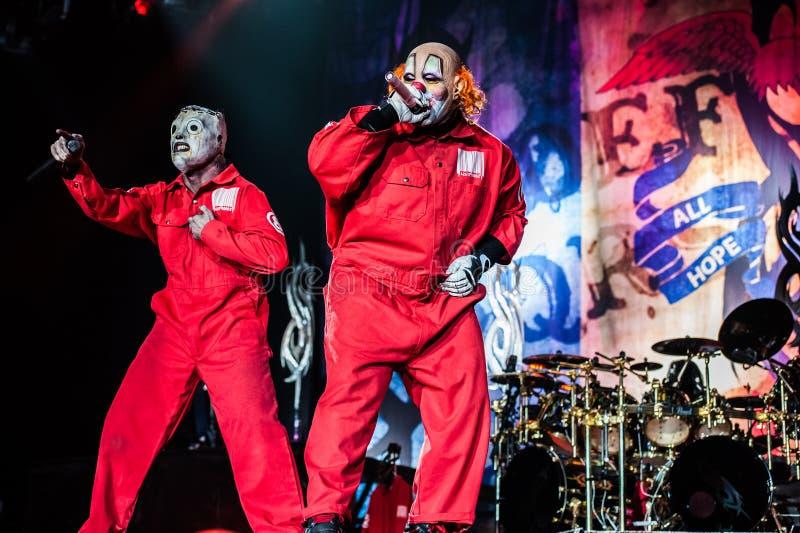 Slipknot音乐会 免版税库存照片
