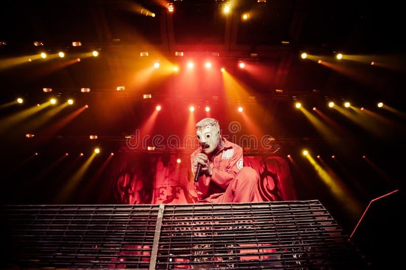 Slipknot音乐会 库存图片