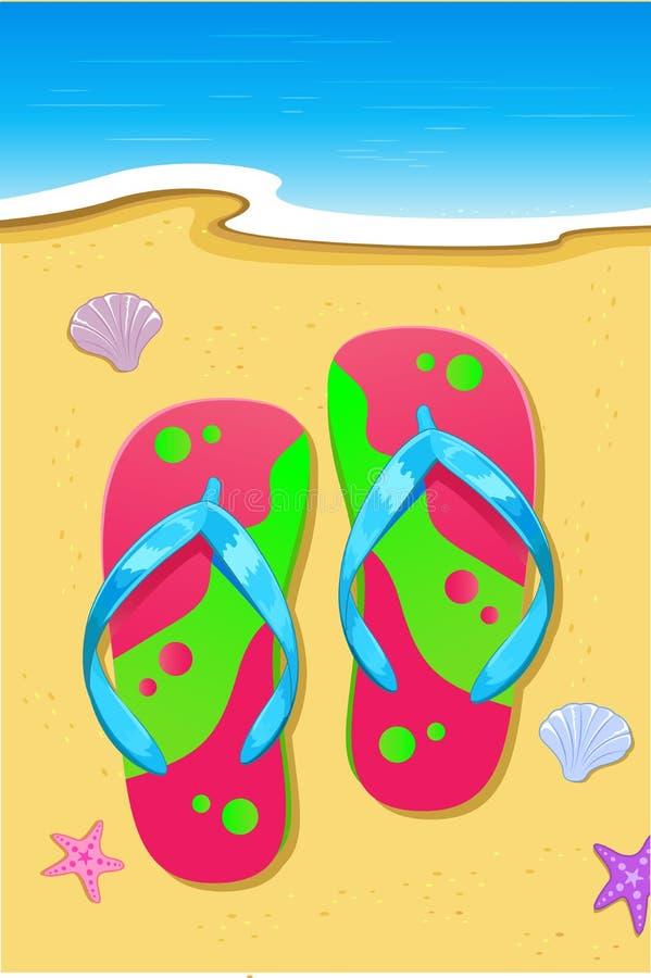 Free Slipper On Beach Stock Photo - 18248470