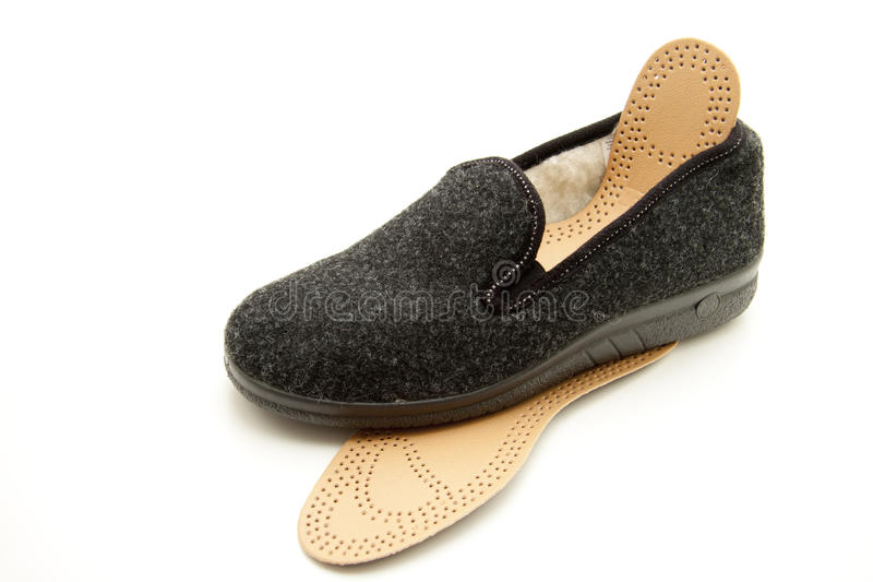 Slippers with insole stock image