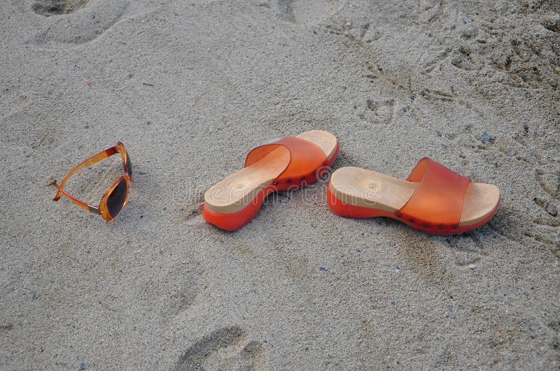 Download Slippers and sunglasses stock photo. Image of outdoor - 23883800