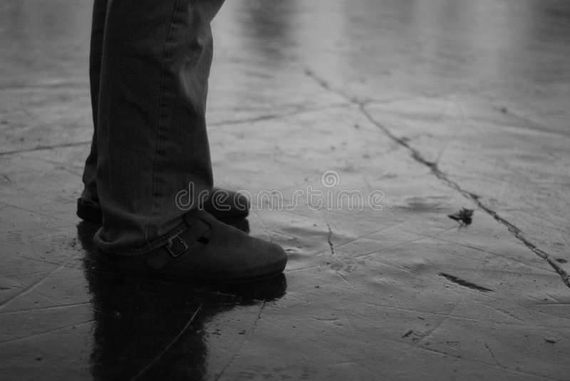 Slippery footing royalty free stock images