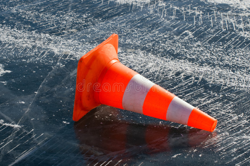 Slippery road royalty free stock images
