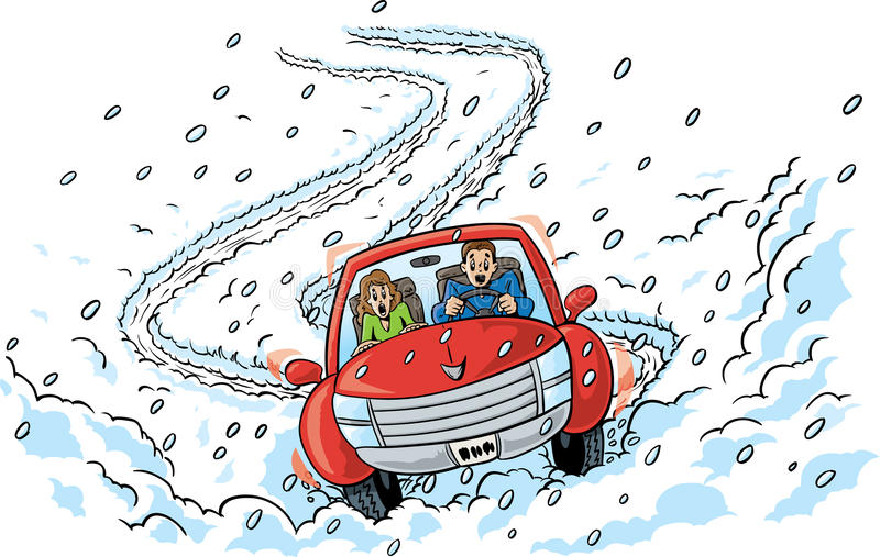 Slippery Roads. Slipping and sliding through crazy, slippery roads royalty free illustration