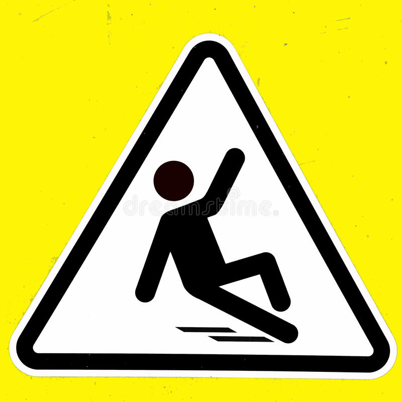Free Slippery Wet Floor Sign Stock Photos - 24650453