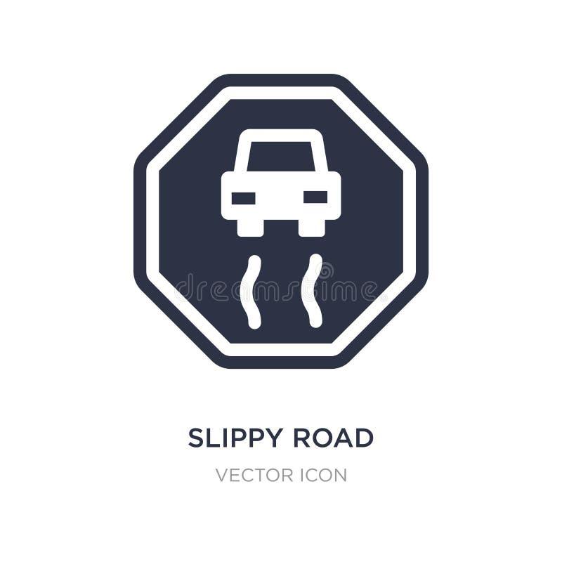 slippy wegpictogram op witte achtergrond Eenvoudige elementenillustratie van Vervoerconcept royalty-vrije illustratie